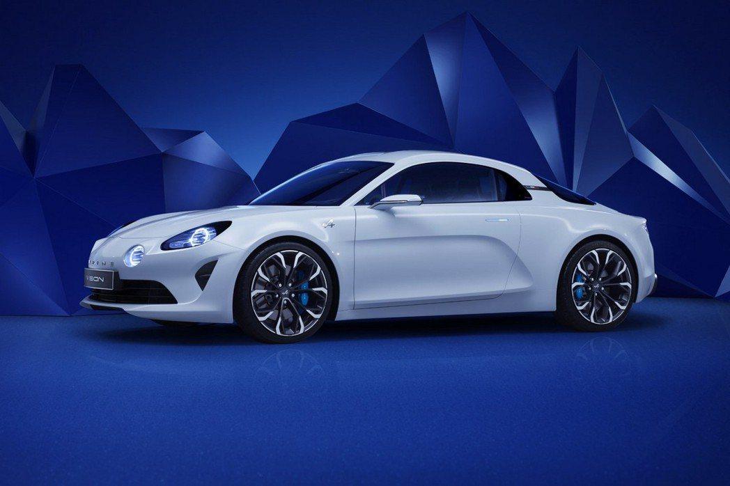 Alpine品牌正式發布了Alpine Vision概念車,預計3月份登場的日內瓦車展上進行首演。 摘自Reuault.com