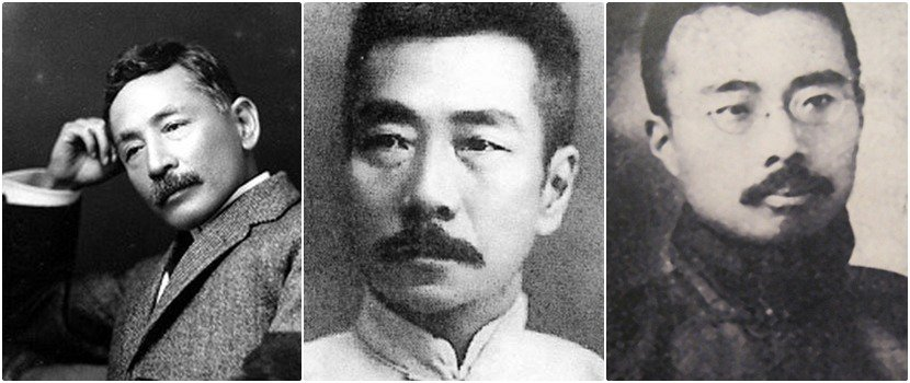 熱愛日本羊羹的「甘黨」們:夏目漱石(左)、魯迅(中)、周作人(右)。 圖/維基共...