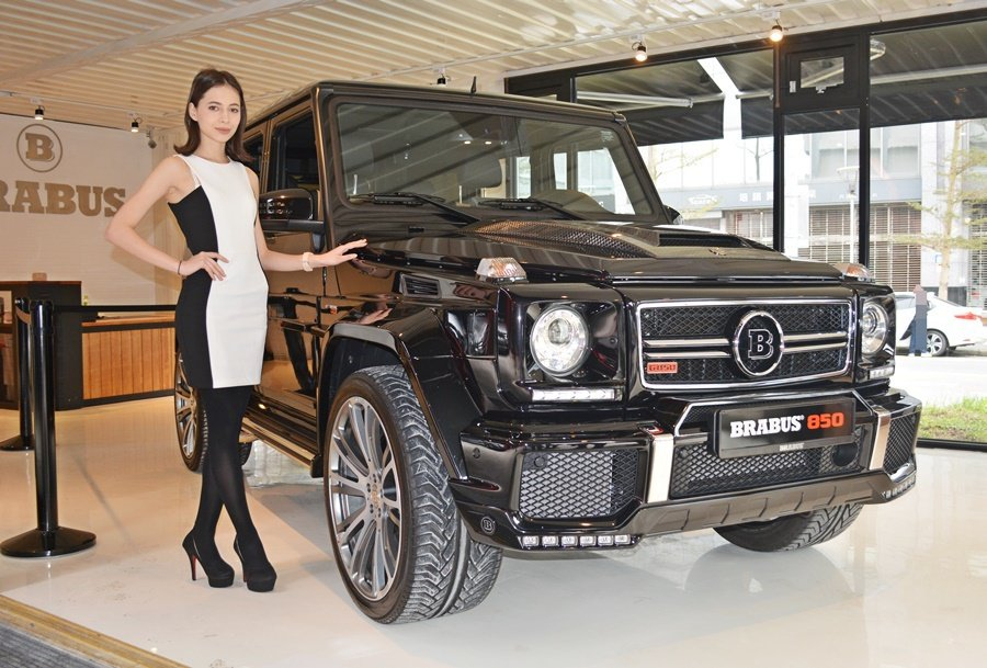 Brabus賓士精品改裝總代理三一國際,發表三款年度新車,其中G850是全場焦點。 記者趙惠群/攝影