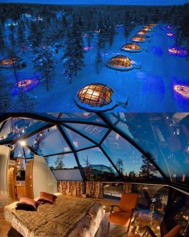 Hotel Kakslauttanen, Finland。圖;文/Bella儂儂