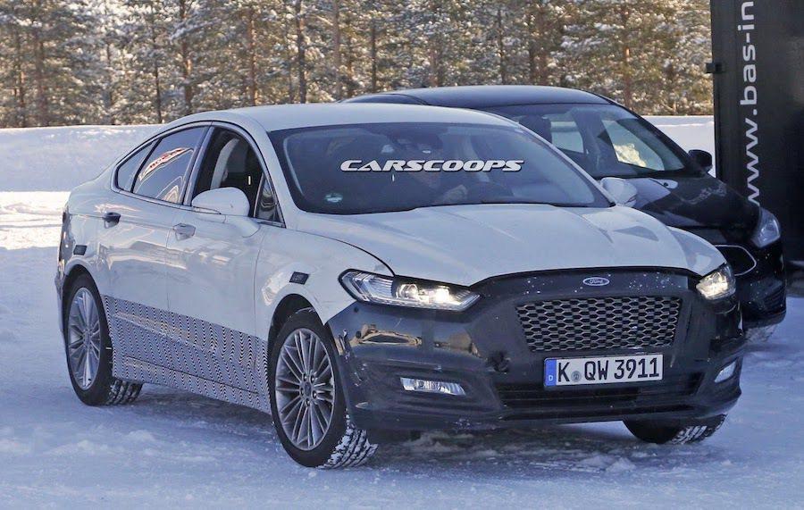 小改款Ford Mondeo近期被捕捉到雪地測試照。 摘自carscoops.com