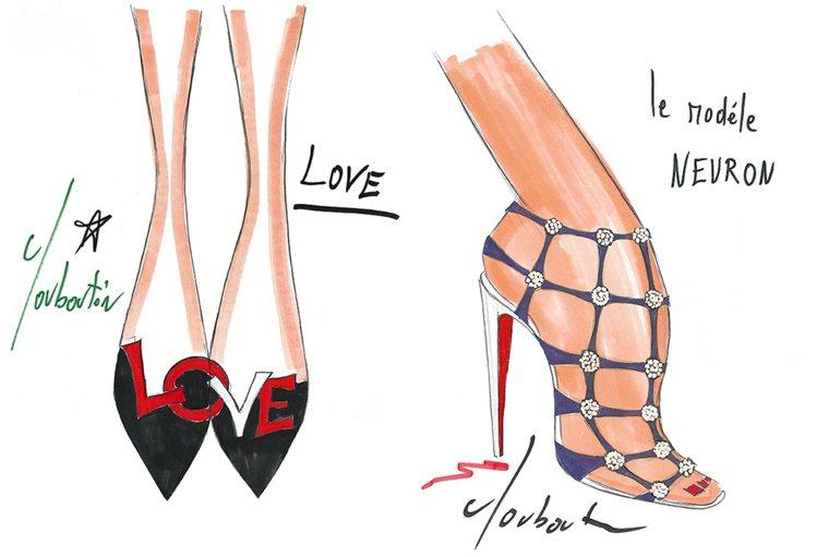 綴以「LOVE」字樣的鞋款是克里斯提安盧布登第一雙暢銷女鞋。圖/天馬行空提供