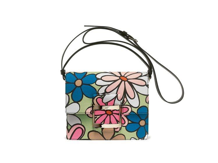 Viv花卉手提包,售價87,200元。圖/ROGER VIVIER提供