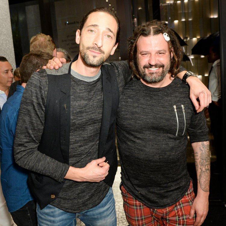 奧斯卡影帝安卓布洛迪和現代藝術家Domingo Zapata在Valentino...