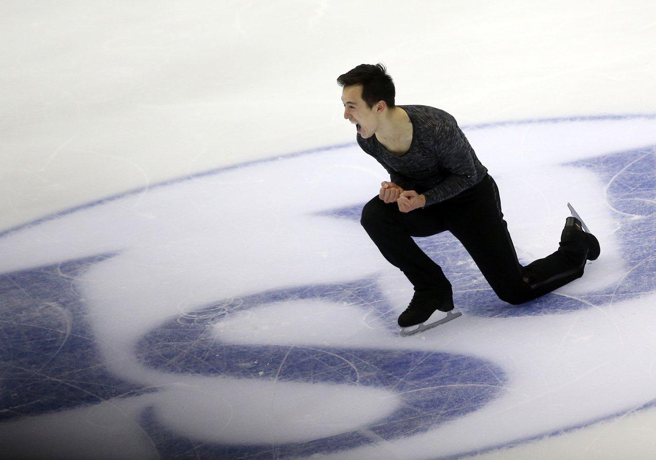 加拿大滑冰名將陳偉群(Patrick Chan)。 中央社