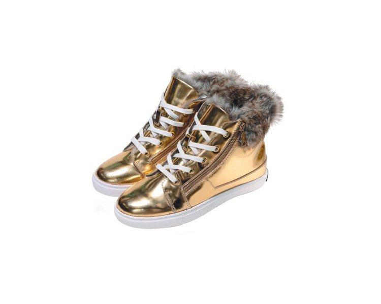 Juicy Couture金色高筒運動鞋,售價7,100元。圖/Juicy Co...