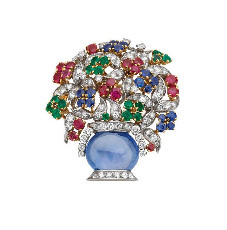 寶格麗1960年作品骨董胸針也將隨珠寶展來台。圖╱寶格麗提供