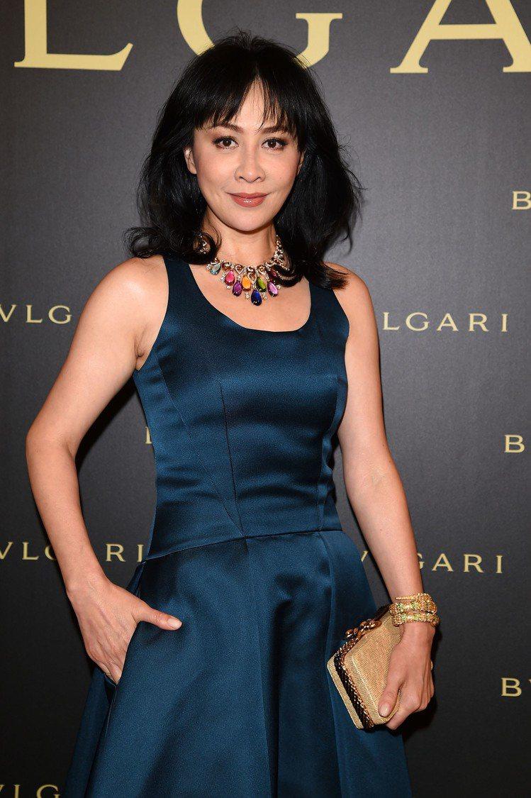 劉嘉玲配戴的寶格麗頂級珠寶項鍊,3/3將抵台展出。圖╱寶格麗提供