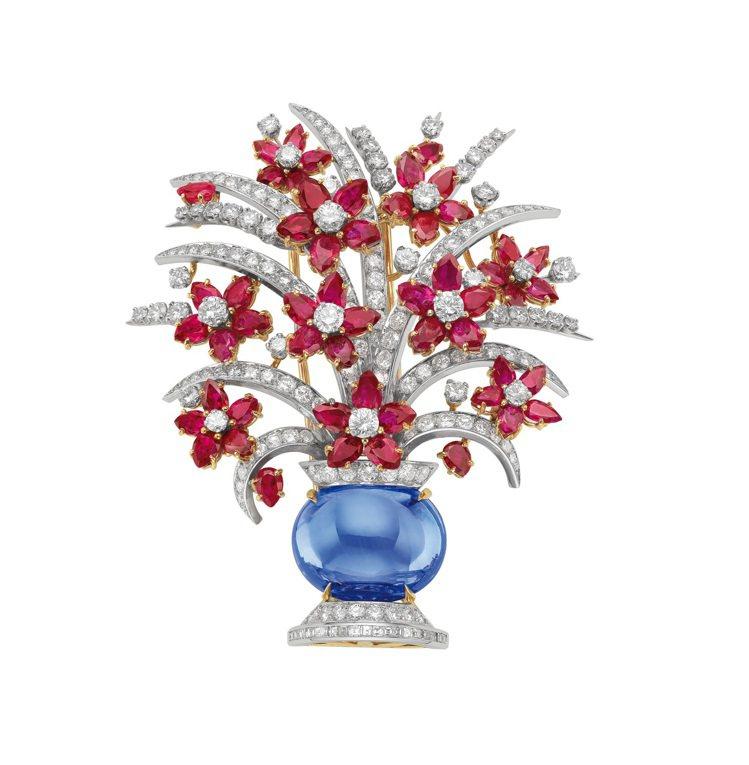 寶格麗1966年作品骨董胸針,將隨珠寶展來台。圖╱寶格麗提供