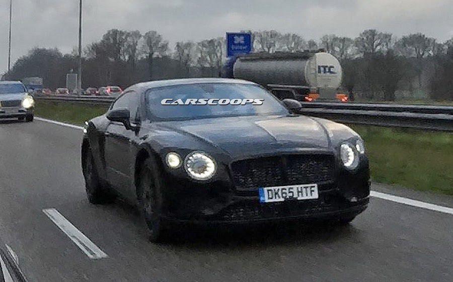 全新Bentley Continental GT測試車最近被外媒捕獲。 摘自carscoops.com