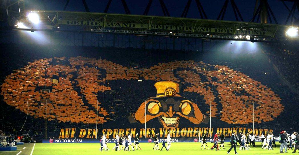多特蒙德的主場,西格納因都納球場,是歐洲著名的「地獄主場」之一。 圖/路透社