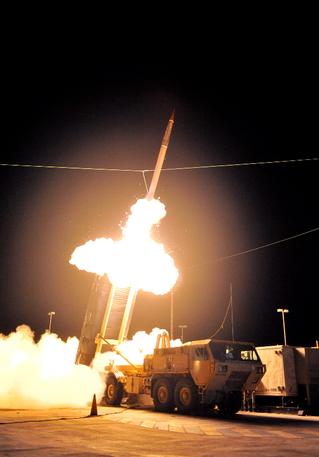 THAAD戰區高空防禦飛彈,是當今美國軍方最強的導彈攔截裝備。 圖/美聯社