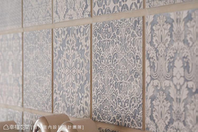 ▲花磚造型: 趙玲室內設計嚴選6~7種花磚種類,細膩紋路與柔美色彩交織出動人的藝...