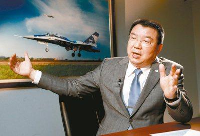 漢翔董事長廖榮鑫。 記者黃義書/攝影