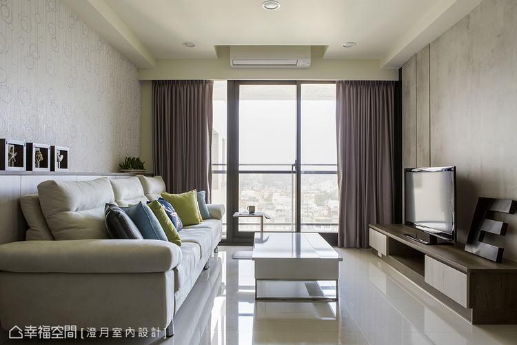 ▲客廳: 在客廳的表現上,澄月室內設計強調舒適與美感的相互融合,細膩構築出空間的...