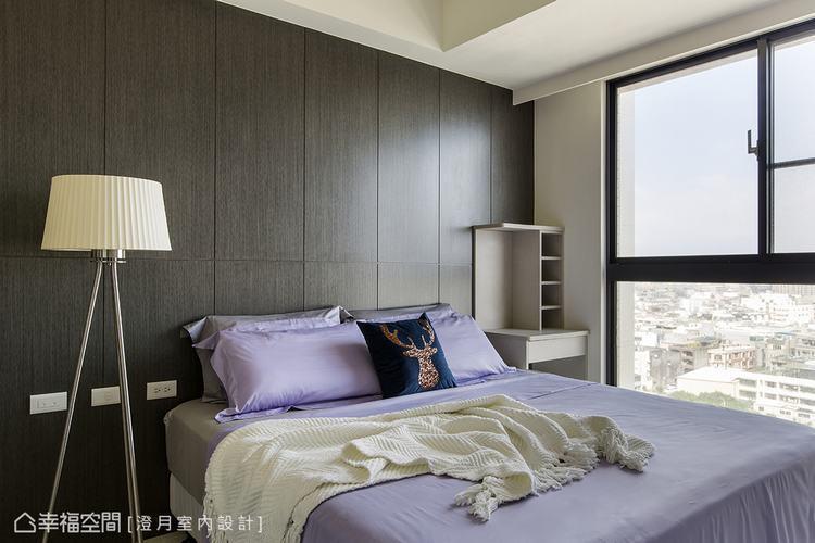 ▲主臥房: 機能、純淨、簡單,讓這些設計元素在此薈萃,營造舒適的臥眠質感。