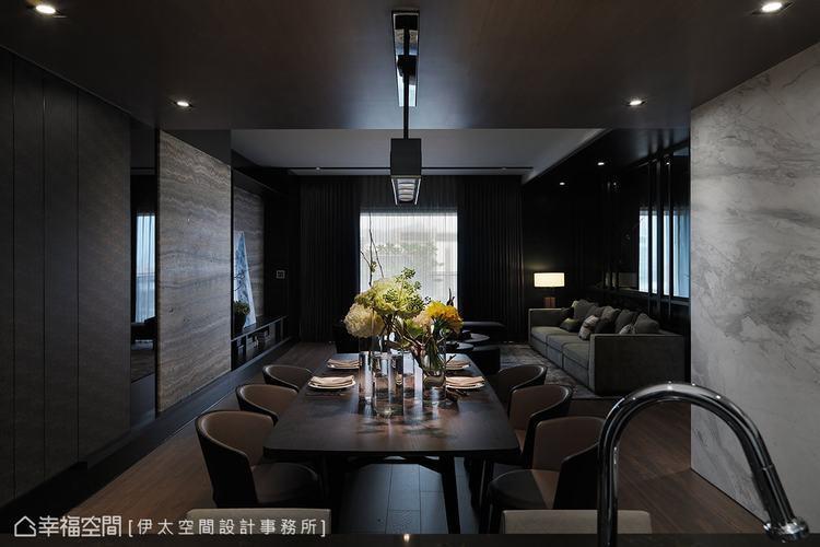 ▲現代感臥室: 低調色感成就臥室的美學質感,更藉由角落一盞夜燈,照亮空間的柔美細...