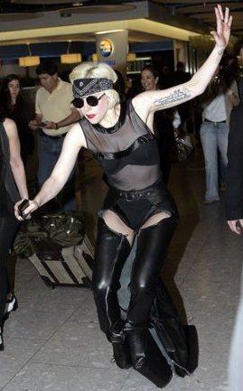 「哎喲喂呀」是Lada Gaga此照之配音。圖/取自infobae.com