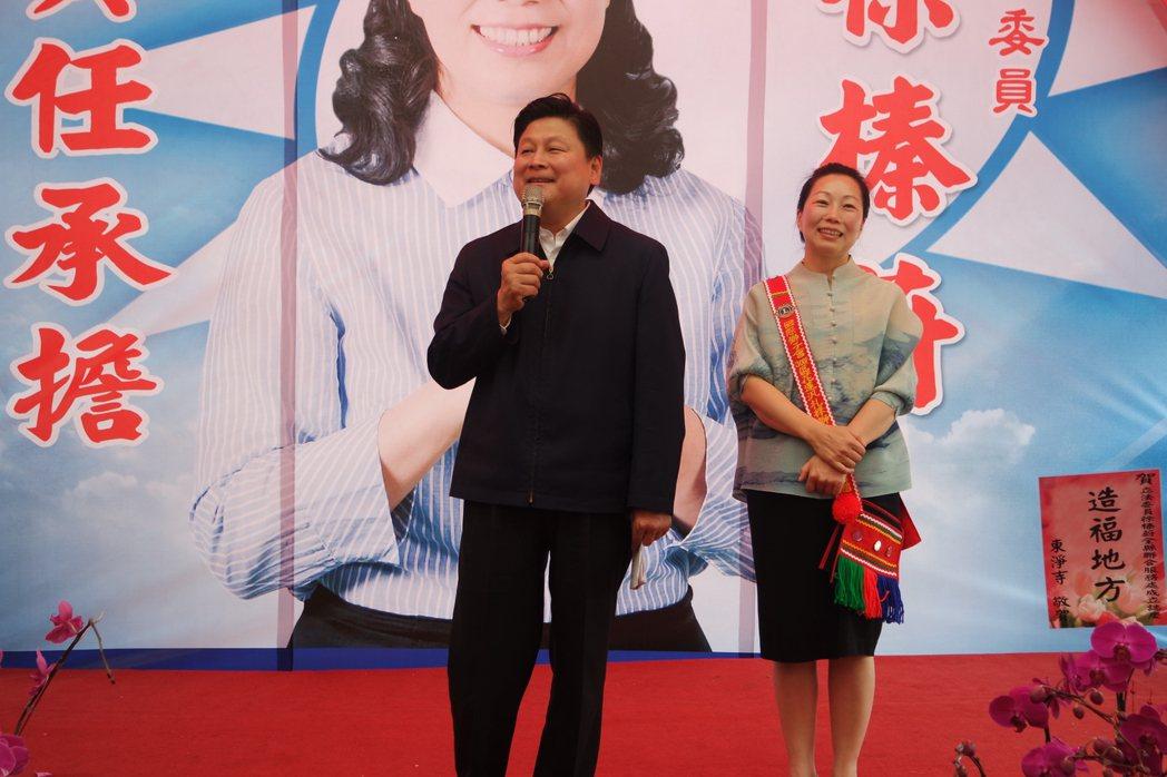 花蓮縣長傅崐萁(左)與不分區立委徐榛蔚(右)。 本報資料照片