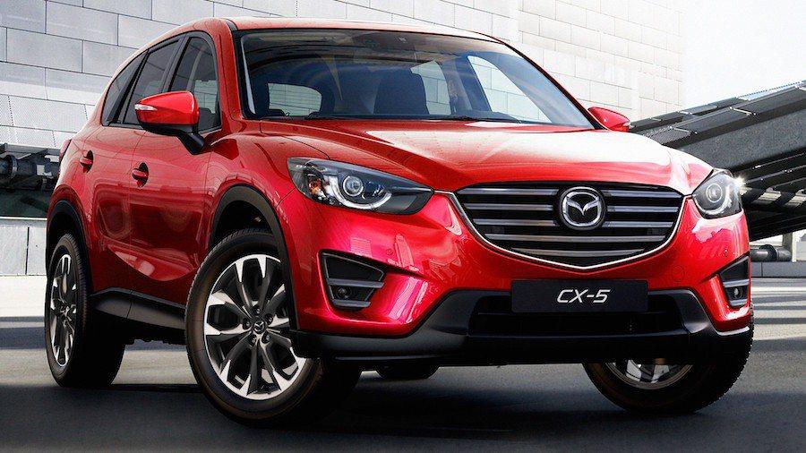 受測車輛中,Mazda CX-5以接近實驗室數據的測試值通過試驗。 摘自Full...