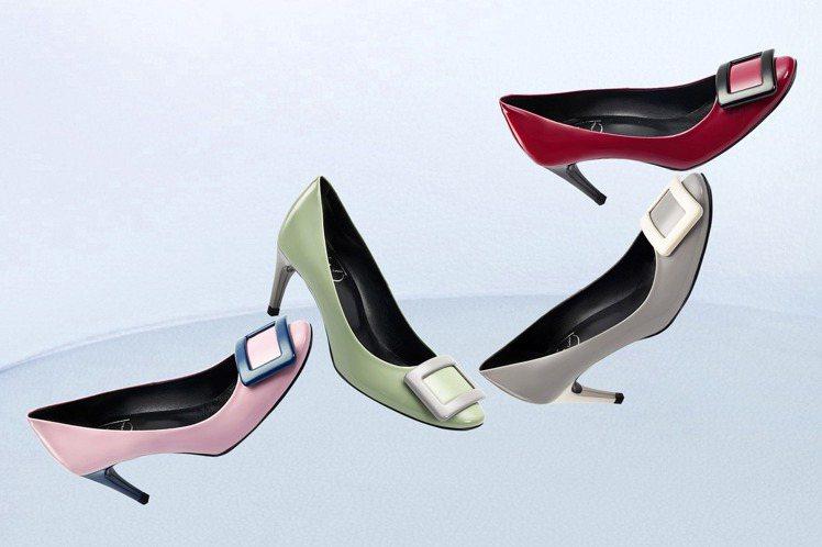 Roger Vivier全球獨家Belle de Nuit撞色高跟鞋,於台灣銷售...