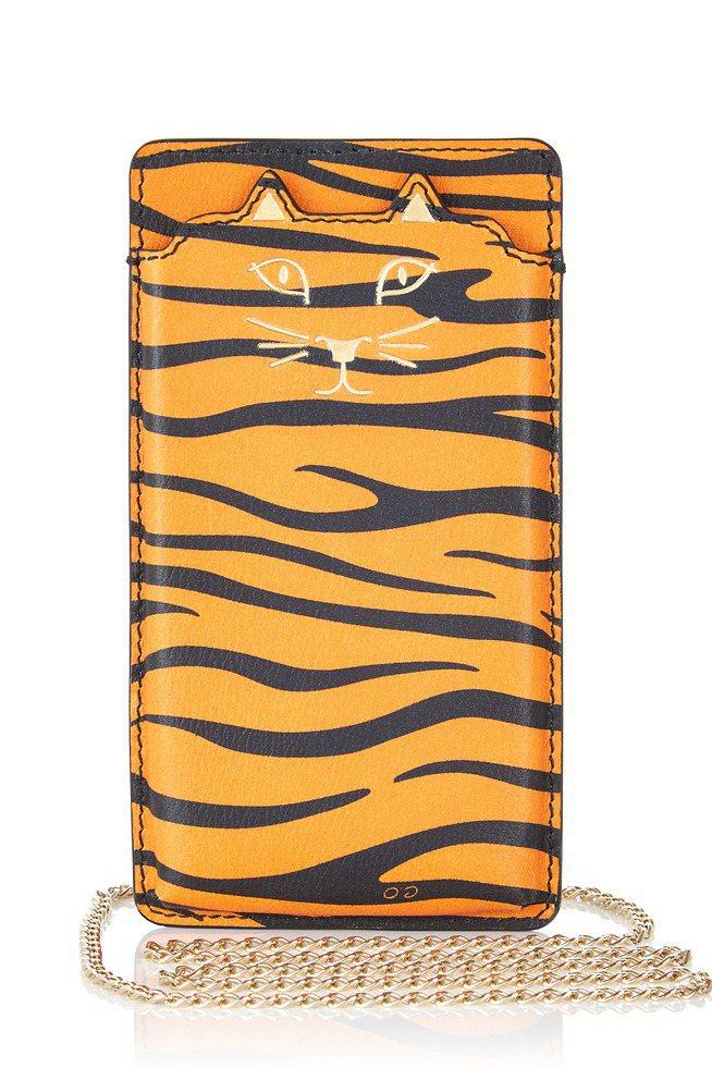 橘色虎紋貓咪iPone 6手機皮套。圖/CHARLOTTE OLYMPIA提供