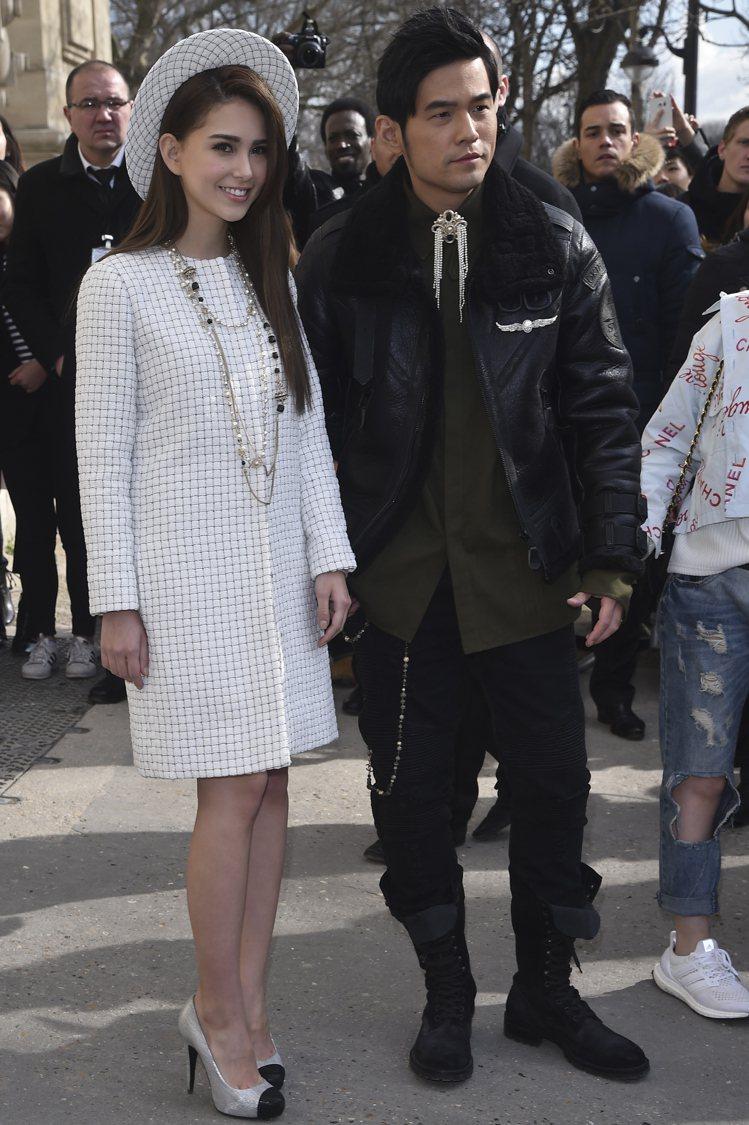 周杰倫與昆凌一起出席巴黎時裝周活動。 圖/CFP