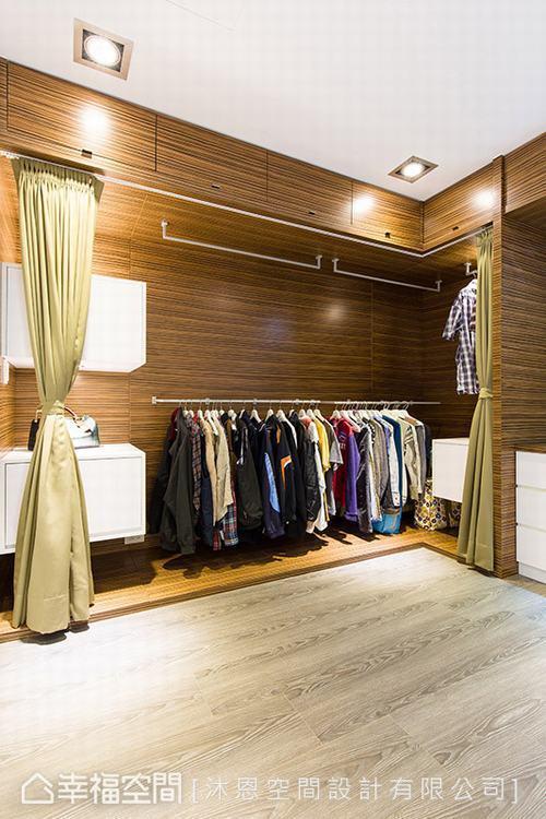 ▲客房&更衣室: 兼具客房機能的更衣室,除了安排抽拉式鏡面,亦安排可與後陽台互動...