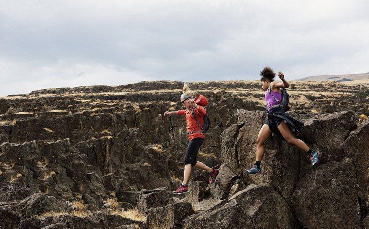 MERRELL鼓勵女人挑戰越野運動,樂當「女野人」。圖/MERRELL提供