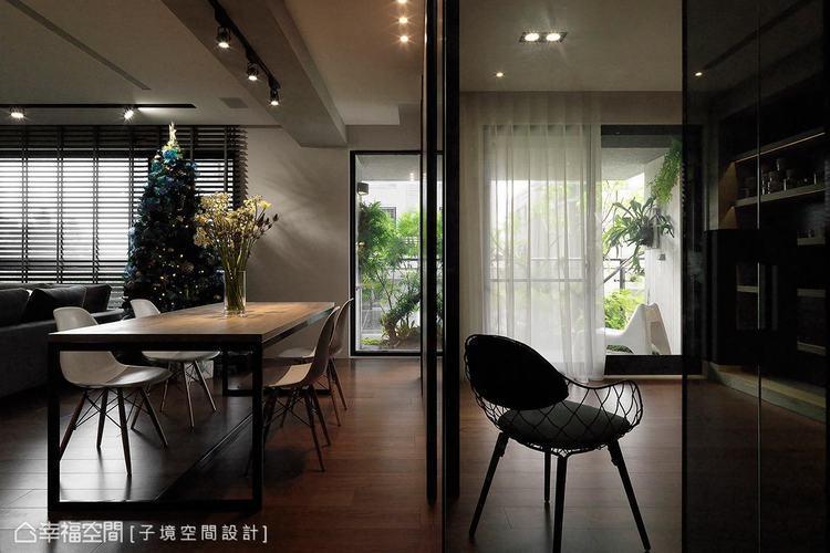 ▲光的表情: 大量使用玻璃材質,形成流動的視覺,讓光線得以在室內穿梭營造出通透感...
