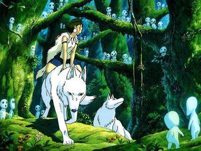 日本動畫大師宮崎駿《魔法公主》劇照。