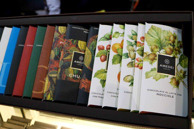 艾美黛(AMEDEI)巧克力,有巧克力界勞斯來斯之稱。記者史榮恩/攝影