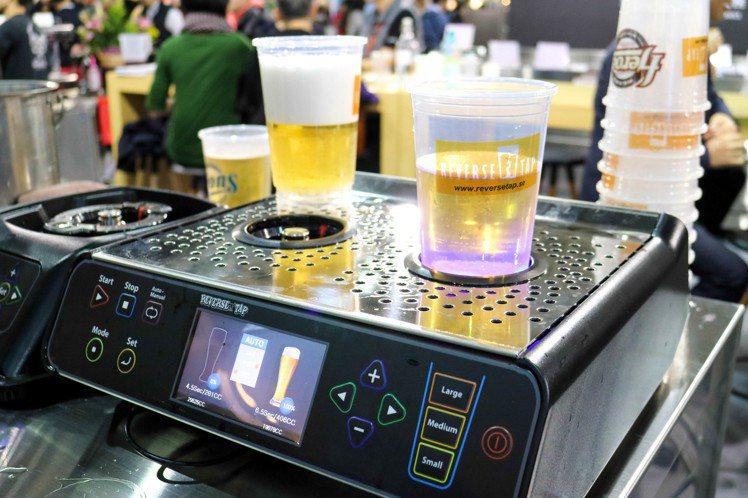 韓國歐巴最愛的噴泉啤酒機。記者史榮恩/攝影