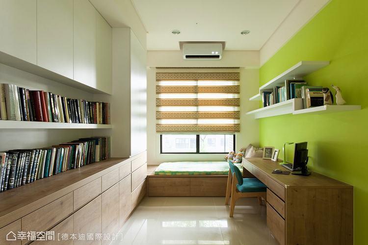 ▲亮色壁面帶出空間活潑感。