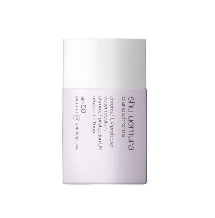 植村秀4D透白UV輕感防護乳SPF50/PA++++, 40ml售價1,600元...