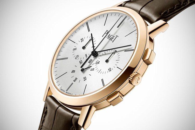 Piaget Altiplano飛返計時腕表。