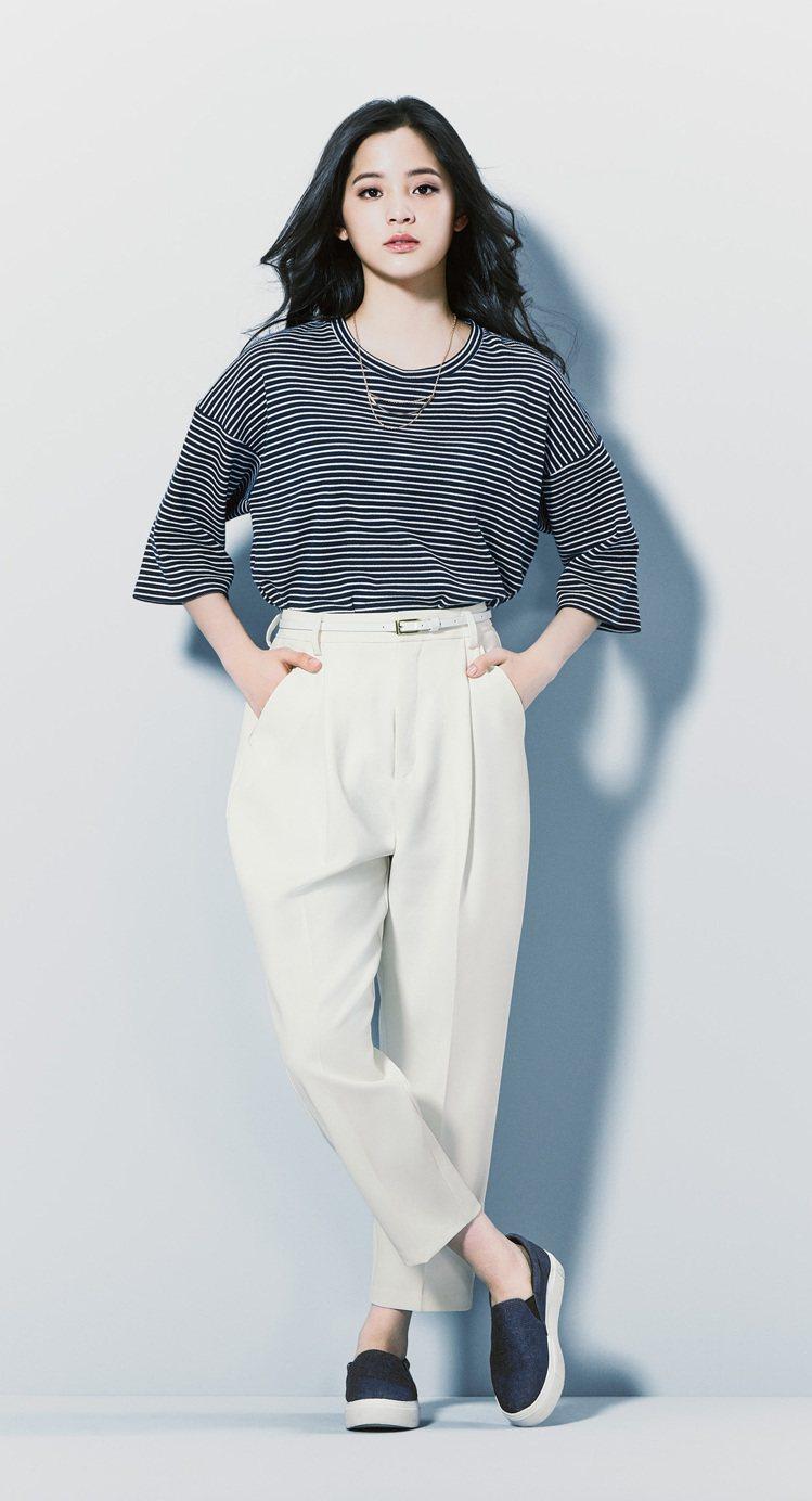 GU邀歐陽娜娜代言春夏廣告,為娜娜進軍日本演藝圈舖路。圖/GU提供