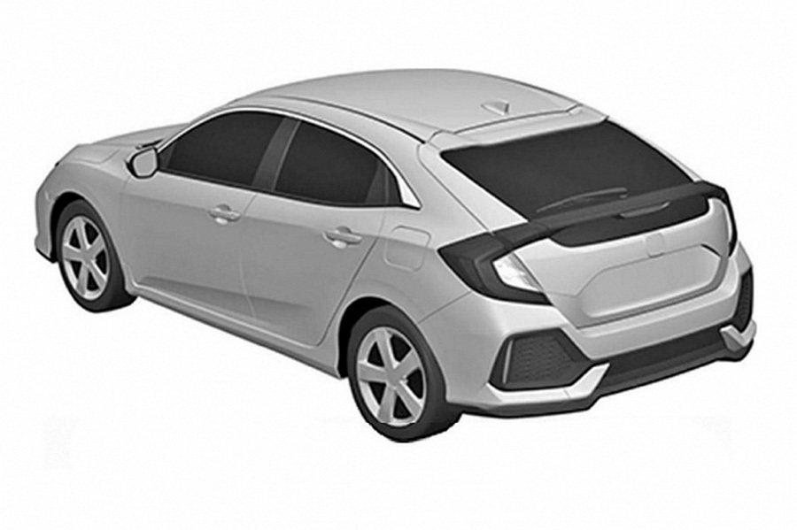 2017年式Honda Civic Hatchback專利圖片 摘自carsco...