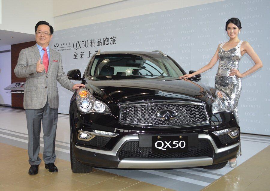 裕隆日產總經理李振成(圖左)表示,即使近期日圓近日大幅反彈,不過為激勵買氣,QX...