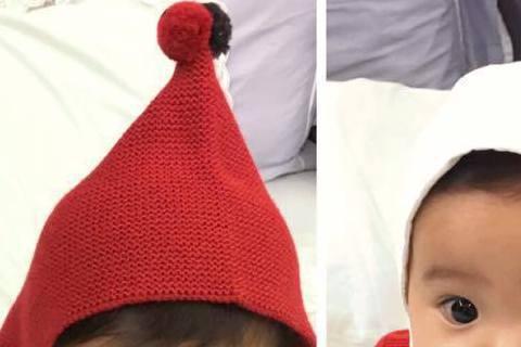 賈靜雯與修杰楷婚後生下了咘咘,兩人也常在臉書分享與女兒的生活點滴。18日賈靜雯還放上一張咘咘的照片,照片中的咘咘穿著紅色系的衣服,而咘咘分別戴著紅帽與白帽,賈靜雯還俏皮地問網友們「紅衣小女孩 PK ...