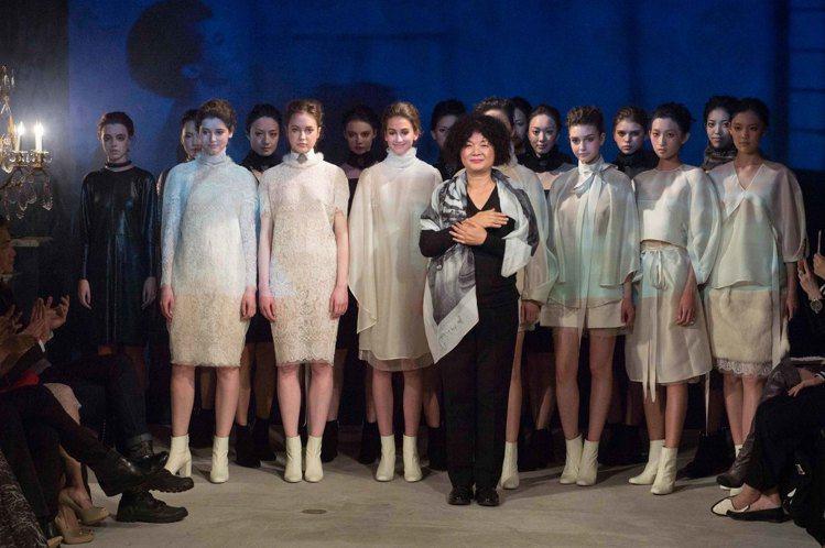 設計師陳季敏發表2016秋冬「經過.風景」系列服裝。圖/JAMEI CHEN提供