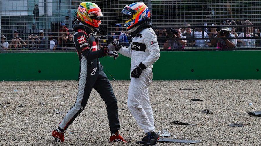 兩位車手皆表示非常感謝上天能讓他們在事故中全身而退。 摘自F1官網