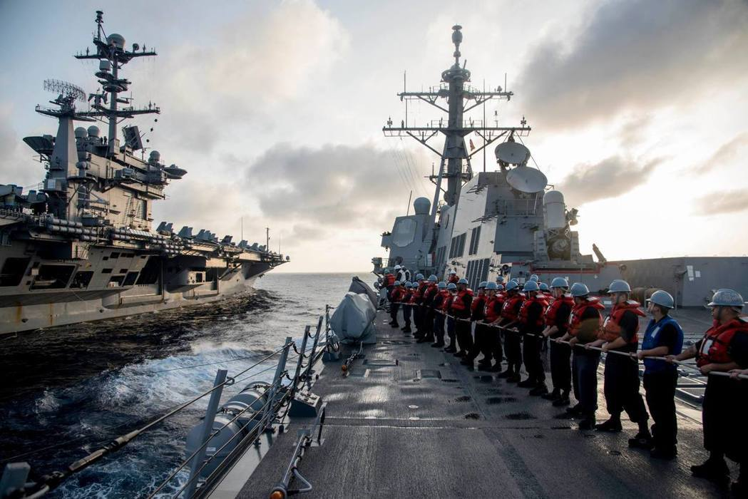 兩種制海權思維的鬥爭——南海上的美中之爭。 圖/美國國防部