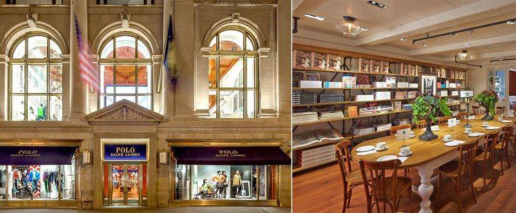 Ralph Lauren位於紐約第五大道旗艦店內,附有專屬咖啡廳。圖/擷自Ral...