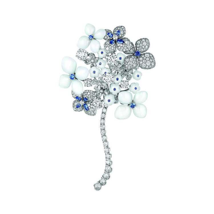 CHAUMET全新「Hortensia 繡球花 」 系列胸針,價格電洽。圖/CH...