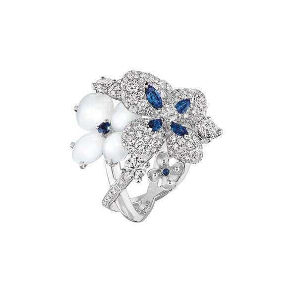 CHAUMET全新「Hortensia 繡球花 」系列戒指。圖/CHAUMET提...