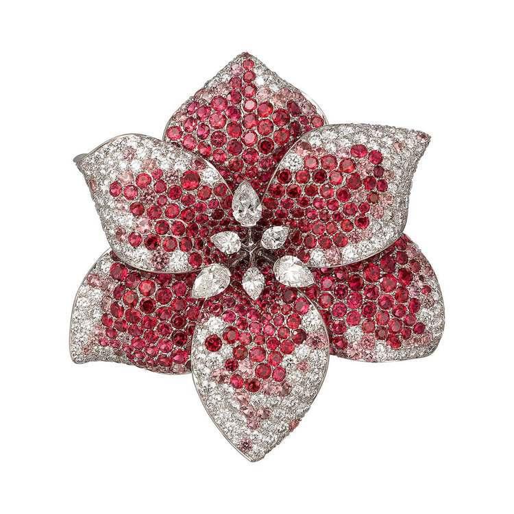 卡地亞Etourdissant頂級珠寶系列Amaryllis孤挺花項鍊,花朵墜飾...