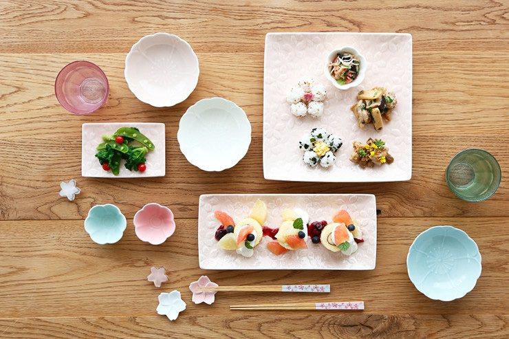 櫻花餐具,為日常生活妝點出饒富趣味的用餐時光。圖/Afternoon Tea提供