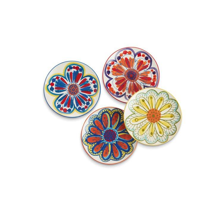 Petula沙拉盤,繽紛色澤加上手工彩繪,創造熱鬧的餐桌時光、480元。圖/Cr...