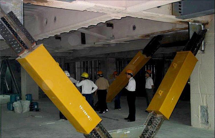 制震設計-一般常見的斜撐制震